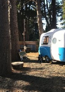 Camper in RV park